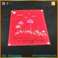 Happy birthday voice recording music greeting card with foil stamping