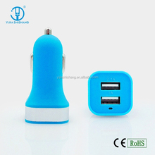 Double USB Car Charger for Samsung for iphone 4/5/6/ for Tablet with 2.1 A Output, 12V Input voltage