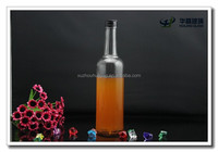 500ml clear empty long neck cylinder glass bottle with screw cap wholesale
