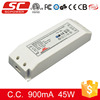 Triac dimmable constant current 45w 900mA led driver 220v ac