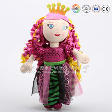 Cute dress girl plush dolls & lovely plush dolls made in China factory audited by ICTI
