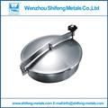 Aço inox tampa de bueiro/grau sanitária tampa de bueiro/tanque de aço inoxidável poço de visita