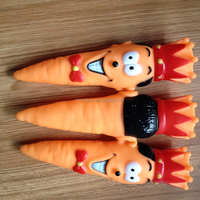 new design The crown of carrot vinyl dog toys pet toys