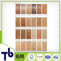 Natural Veneer Moulded Hdf Door Skin