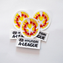 3D Embroidery badge/patch + Flocking heat transfer for football wear/Soccer jersey heat press patches