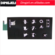High Quality Front Panel Overlays UV Keyboard Fluorescente Clavier