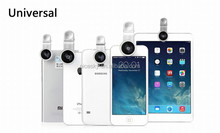 fisheye lens 3 in 1 Universal wide angle lens+ Marco + Fisheye Lens for Samsung Galaxy S4 S5 Note3 lens for smartphone