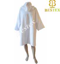 Terry cloth Long Sleeve Pancho Changing robe with pockets