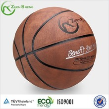 Zhensheng official size and weight pu synthetic leather basketball