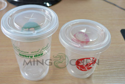 Wholesales Disposable Colorful Plastic Cup with Lid OEM PP PS