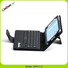 For Samsung Tablet PC keyboard case, 7 inch leather case for android tablet, android tablet keyboard case