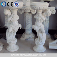 High quality white marble angel statue
