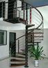 Prefabric Indoor Attic Steel wood Spiral Stairs