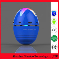 New product egg shape led bluetooth portable speaker with usb