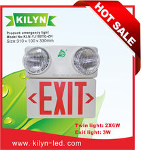 UL CUL KILYN DOMINO new patent 2015 led emergency light bar 2*6w led rechargeable emergency light