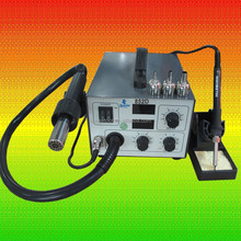 Professional Factory of 852D Lead-free 2 in 1 SMD Hot Air Work Station