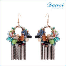 Fashion Trendy beads earring newest alloy simple design 2015