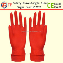 Good quality extra long household rubber cleaning gloves for kitchen