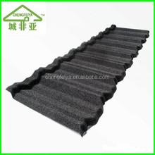Corrugated stone coated steel roof tile/stone coated metal roof tile
