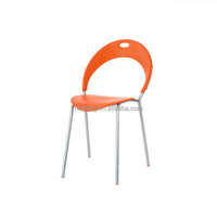 Simplicity cheap moonlike stackable polypropylene plastic fancy dining chair