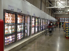 2015 Hot sale refrigeration glass insert doors for supermarket walk in cooler