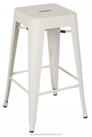 hot sale cheap price powder coating Marais industrial antique metal high bar stool for dining room