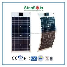 Sinosola Solar The best high quality 100W Semi Flexible Solar Panel with TUV/PID/CEC/CE/CQC/ISO