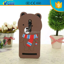 Mobile phone case 3d silicone cartoon case for asus zenfone