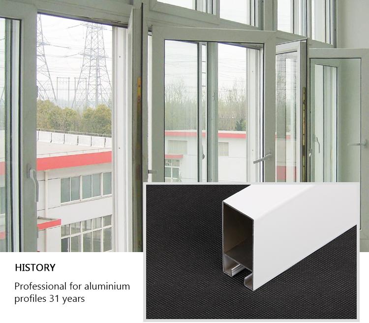 Al Profile Electrophoresis White Casement Window Aluminum Entrance
