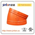 Fm UL aprobado de protección contra incendios accesorios de tubería de agua 22.5 Degree codo
