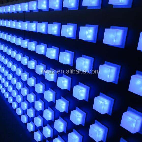 Алюминиевые композитные панели пикселей из светодиодов внутренняя отделка для интерьер ресторана настенный светильник потолочный декор