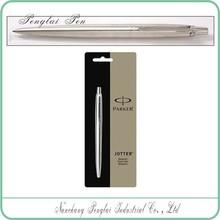 2015 click Medium Point stainless steel metal parker ball pen refill