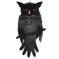 halloween hanging light up artificial owl for home decoration
