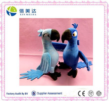 Soft Stuffed Parrot Love Bird Plush Toy can stand up