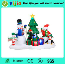 Promoiton outdoor inflatable christmas tree ornament