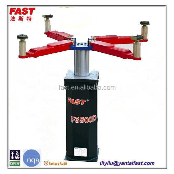 Single Hydraulic Automotive Lifts : Hydraulic single post underground car lift with pneumatic