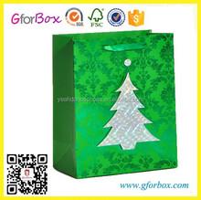 Christmas Tree Printed Shopping Bag Xmas Paper Gift Bag Packing Bag