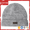 Wholesale High Quality Hip Hop Custom Leather Patch Beanies