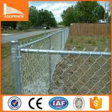 China high quality temporary chain link fence panel/ privacy slats for chain link fence/ 10 gauge chain link fence