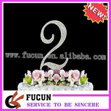 diamante chispeante número adorno de torta de cumpleaños de adorno de torta para la venta