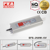 ac dc current led driver sfs 250w 5v 30a waterproof series power supply