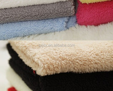 100%polyester plush/sherpa/fleece toy fabric coral fleece plush fabric