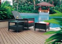 garden pool furniture wicker uv proof air lounge sofa comfortable lounge chair set