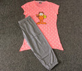 2015 jersey de verano pijama de algodón teknur para mujeres, dhaka pijama y camisas, búho pijama