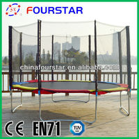 Outdoor Large Olympic Gymnastics Jumping Trampoline With Safety Pads