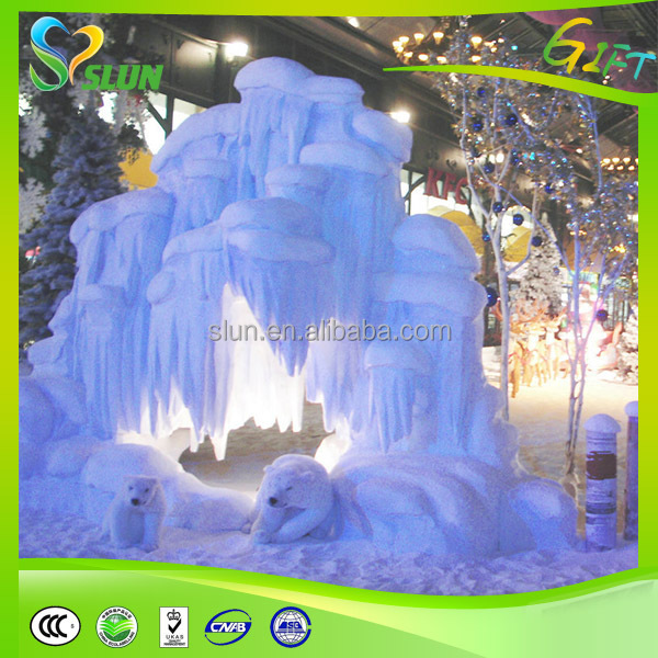 Fake snow recipe crafts for Artificial snow decoration