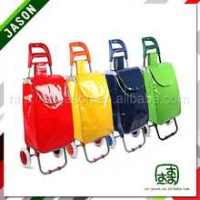 hand trolley two wheel printed jean cloth bag