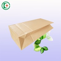 Neutral brown craft paper bags food grade bread bag exporting to uk