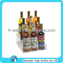 Clear plexiglass display holder for wine ,3 step display holder, acrylic manufacturing