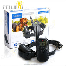 LCD 100LV Level Electric Shock & Vibra Remote 2 Pet Dog Training Collar